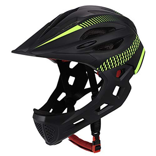 Kids Skateboard Helmet Protective,Kinder Balance Full Face Abnehmbarer Helm mit Rücklicht für Reiten, Skateboard, Fahrrad, Roller