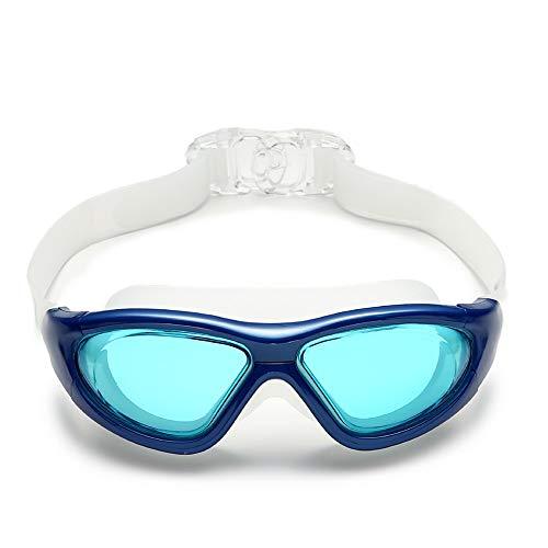 Uv -Schutzbrillen Ohne Leaking Diving Eyewear Swim Silikone Brillen Erwachsene Hd Wasserdicht Anti Fog Eyewear,Blaue Linsen