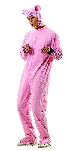 Für Schwein Kostüm Erwachsene - Foxxeo Schwein Kostüm für Erwachsene Damen und Herren Tierkostüm Overall Jumpsuit Größe M-L