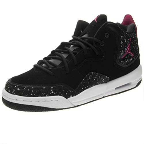Nike Damen Jordan Courtside 23 (gs) Fitnessschuhe Mehrfarbig (Black/White/Rush Pink 016) 36.5 EU (Pink And Black Jordans Schuhe)