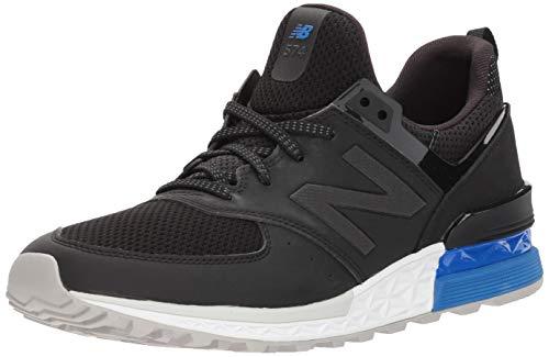 New Balance Männer 574 MS574V2 Lifestyle Schuhe, 46.5 EUR - Width D, Black/Blue