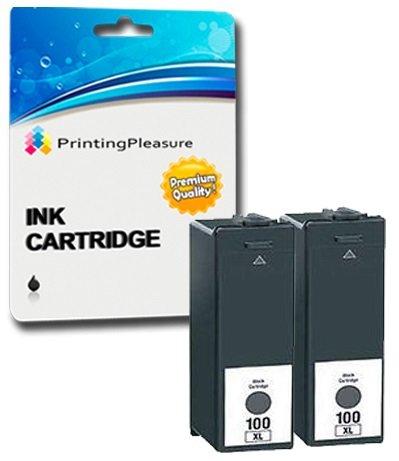 2 XL SCHWARZ Druckerpatronen für Lexmark Impact, Interact, Interpret, Intuition, Genesis, Prospect Pro, Prevail Pro, Prestige Pro, Pinnacle Pro, Platinum Pro | kompatibel zu Lexmark 100XL 105XL 108XL (Lexmark Patrone Xl 100)