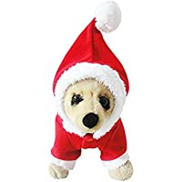 Mascota cachorro perro Navidad ropa Santa Claus disfraz ropa exterior abrigo ropa sudadera con capucha (X-Small)
