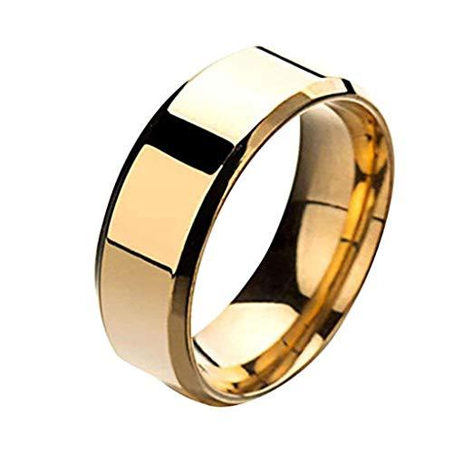 Floweworld Retro Einfache Ring Mode Einfache Unisex Liebhaber Edelstahl Spiegel Fingerringe Schmuck...