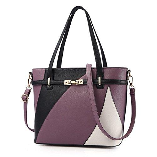 Dame Big Bag Handtasche Umhängetasche Einfache Mode Temperament Casual Damen Tasche E