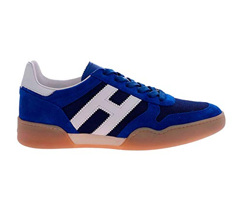 Hogan Sneakers H357 in Suede Royal Blue and White, Homme, Taille 7.
