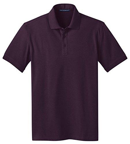 Port Authority Herren Stretch Pique Polo T-Shirt atmungsaktiv Violett - Aubergine Purple