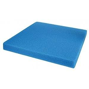Mousse Bleue : 50 X 50 X 10 alvéolage fin pour bassin et aquariums 30 ppi