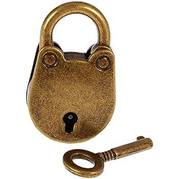 Gusseisen Vorhängeschloss mit 3 Schlüssel G2084 Deko Schloss Eisen rostig
