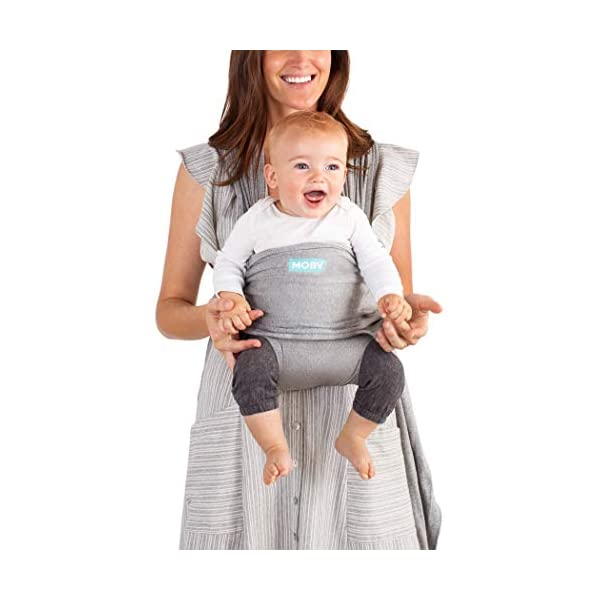 MOBY Fit Baby Wrap Carrier for Newborn to Toddler up to 30lbs, Baby Sling from Birth, One Size Fits All, Breathable Stretchy Made from 100% Cotton, Unisex Moby Perfect for newborns - hug them close to your heart Front and outward carrying positions Grows with baby, from new-born to toddler 4
