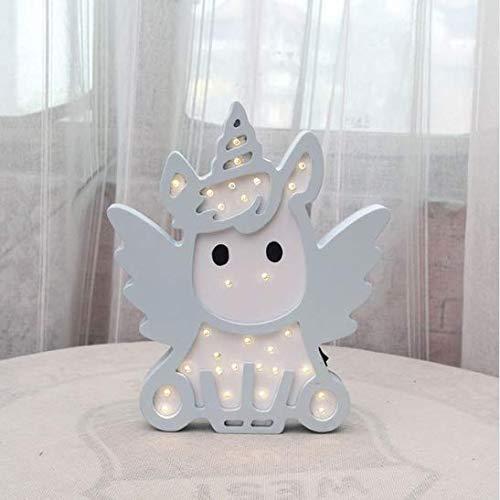 Linfei Rosa Blaue Farbe Einhorn Design Nachtlicht Batterie Schöne Lampara Infantil Schalter Bb Glühen Nacht Lampe Für Jungen Mädchen (In Der Farbe Dunklen Rosa-glühen)