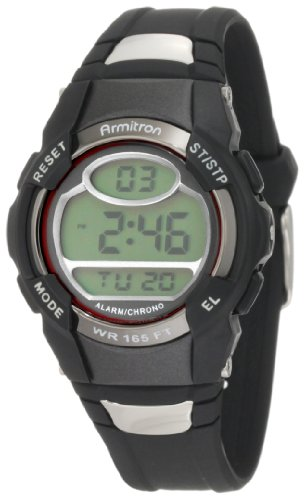Armitron Sport Unisex 45/6975RED Black Digital Watch