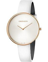 8ac16fa06a11 Calvin Klein Reloj Analógico para Mujer de Cuarzo con Correa en Cuero  K8Y236L6