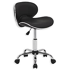 chaise de bureau tabouret sur roulettes gunnar hauteur r glable noir cuisine maison. Black Bedroom Furniture Sets. Home Design Ideas