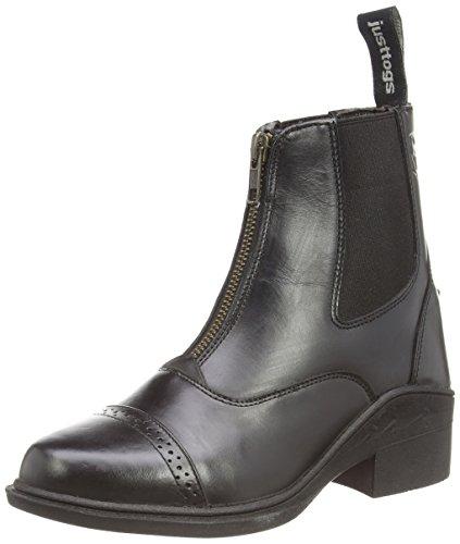 Just Togs Beaumont Boots Jodhpur en cuir avec zip de fermeture Noir