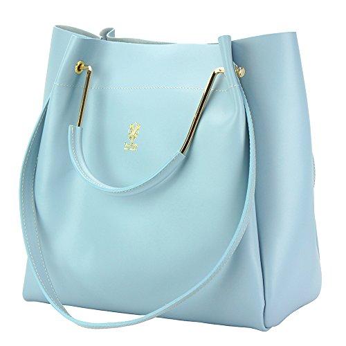 Borsa Eleonora - 8051 - Borse in pelle - borse da donna Celeste chiaro