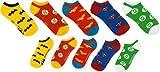 DC Comics Superhero Logos AOP Logo Ankle Chaussettess 5 Pack