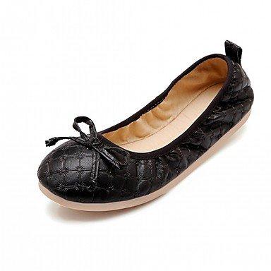Wuyulunbi@ Scarpe Donna Primavera Autunno Comfort Novità luce Appartamenti suole piatte rotonde Bowknot di punta per abbigliamento casual nero,Black,Us7.5 / Eu38 / Uk5.5 / CN38 US8 / EU39 / UK6 / CN39