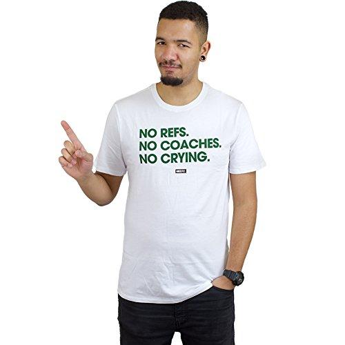 Nike FC Nicht Refs Coach Cry Tee Herren T-Shirt S weiß (White/White)