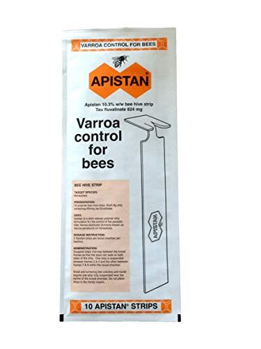 Beekeeping Supplies UK Vita - Suministros de Apicultura para Apistán Varroa Control – Paquete de 10 Tiras – caducidad febrero 2021