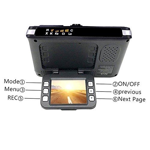 2 in 1 720P Détecteur de vitesse Cam voiture DVR flux multimédia double lentille miroir écran tactile complet HDR