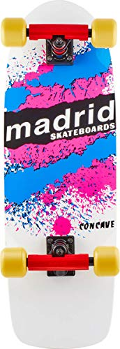 Madrid Skateboards Old School 'Explosion' komplett Cruiser Board, weiß