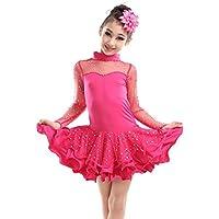 BOZEVON Latino Vestido de Baile Tutú Infantil para Niñas Lentejuelas Latina  Traje ... a3f26ed2bbd