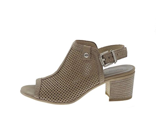 Nero Giardini 15661 Sandalo Tacco Donna Pelle Tortora Tortora 36