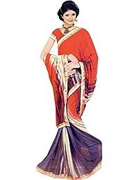 The Wardrobe Women's Georgette Saree
