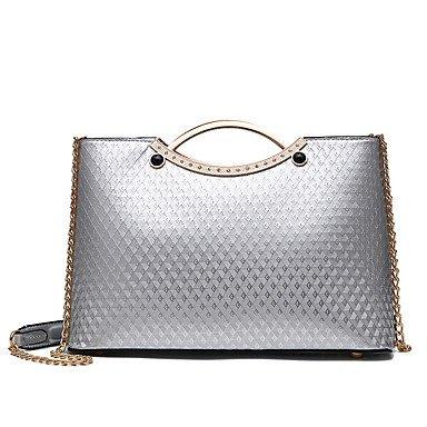 Damenmode PU Leder Schulter Messenger Bags/Handtasche Silver