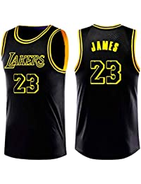 0e9a4108b A-lee Lebron James NBA Lakers Jersey 23 James Basket Completo per Gli  Uomini