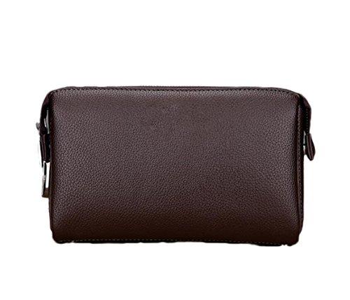 Lock-aktentasche Aus Leder (Herrenbrieftasche Leder Clutch Bag Anti-Diebstahl-Passwort-Lock-Tasche Große Kapazität Handytasche Europäischen Und Amerikanischen Mode Taschen,Brown-OneSize)