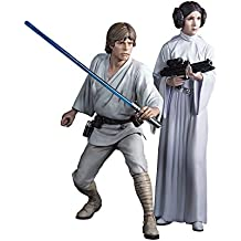 "Kotobukiya Luke Skywalker and Princess Leia ""Star Wars"" ARTFX+ Statue"