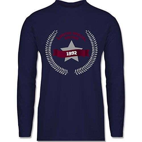 Geburtstag - 1992 Limited Special Edition - Longsleeve / langärmeliges T-Shirt für Herren Navy Blau