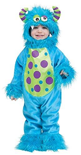 Baby Kleinkind Mädchen Jungen blau oder lila Halloween Monster Verkleidung Kostüm Kleidung 12-24 Monate - Blau, 12-24 Months (Monate 12 Halloween-kostüm Mädchen)