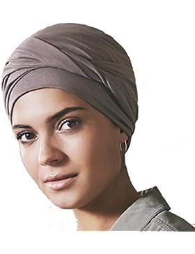 Gorro oncológico 100% algodón Edith con drapeado