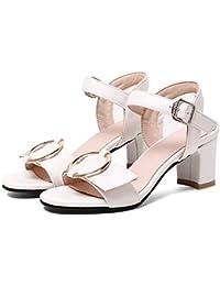 9d0c4138 Calzado de Mujer PU (Poliuretano) Confort de Primavera/Verano/Novedad  Sandalias Tacón Grueso Puntera Abierta Hebilla…