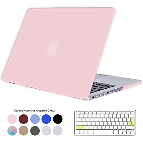 TECOOL MacBook Pro 15 Retina Hülle, Slim Case Plastik Hartschale Schutzhülle Snap Cover & Silicon Tastaturschutz für Apple MacBook Pro 15,4 Zoll Modell:A1398 (Rose Quartz)