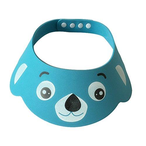Luerme Baby Kinder Duschkappe Verstellbarer Shampoo Schutz Badekappe Duschhaube Wash Haar Shield Hut (Blau)