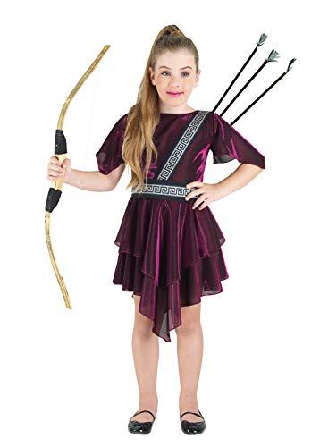 Kostüm Kind Artemis - Clown Republic- Göttin Artemis Kostüm, Mädchen, 85208/08, mehrfarbig
