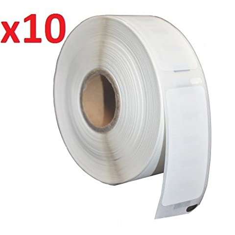 10 x Seiko SLP-SRL White Standard Address Labels Rolls (220 Labels per Roll) for Seiko SLP Pro, Smart Label Printer 100, 120, 200, 220, 240, 410, 420, 430, 440, 450 (54mm x 101mm)