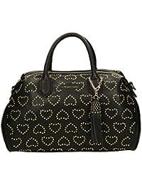 Twin Set borsa bauletto cuori borchiette A7S5QN colore nero 4030b505ad9