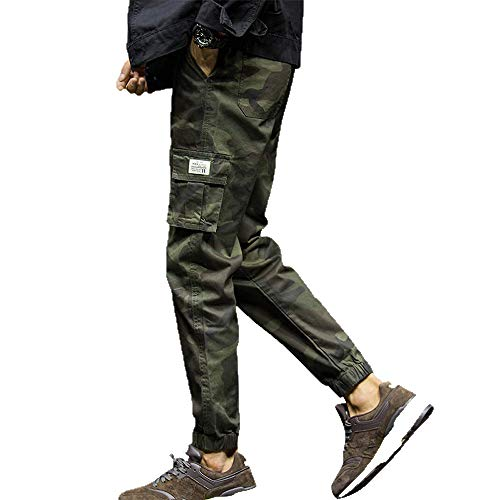 Pantalones de Camuflaje de Moda para Hombres Nine Points Pies pequeños Pantalones Casuales pantalón Joggers de Correr Pantalones Deportivos M - XXXXXXXL Amlaiworld