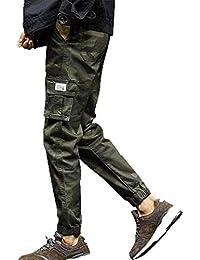 Pantalones de Camuflaje de Moda para Hombres Nine Points Pies pequeños Pantalones  Casuales pantalón Joggers de 7083ea0fb353