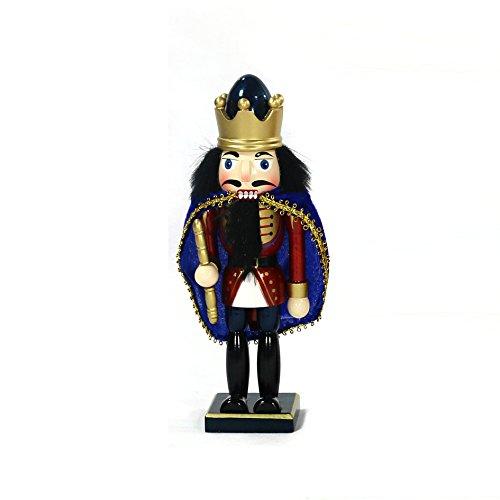 Dekohelden24 Zauberhafter Nussknacker König mit Umhang, ca. 23 cm