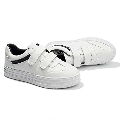 Multisport Sport 39 In Da Sneakers 35 Esecuzione Di Casuale Modo Cuoio Di Velcro Scarpe Nero Donna Jrenok Con Slittamento Ginnastica Esterno tHqxEwAXW
