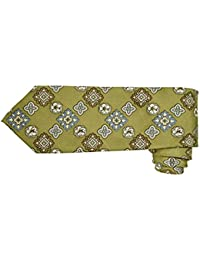 Tommy Bahama Silk Twill Tie Printed in a Floral Medallion Pattern (OLIVE)