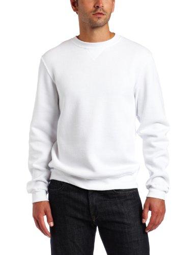 Soffe Herren Trainingssweatshirt Fleece Crew - Weiß - Groß Soffe Fleece