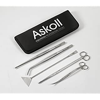 Askoll accessory kit for aquarium care: scissors, tweezers, spatula