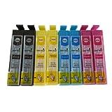 Colour Direct 8 Kompatibel Druckerpatronen Ersatz für EPSON STYLUS S20, SX100, SX105, SX110, SX115, SX200, SX205, SX210, SX215, SX218, SX400, SX405, SX410, SX415, SX510W, SX515W, SX600FW, SX610FW, BX300F, BX3450, CX4300, S21, D120, D5050, D78, D92, DX400, DX4000, DX4050, DX4400, DX4450, DX5000, DX5050, DX6000, DX6050, DX7450, DX8450, DX7000F, DX7400, DX8400, DX8450, DX9400, DX9400F, BX310FN Drucker (Schwarz, Cyan, Magenta, Gelb)